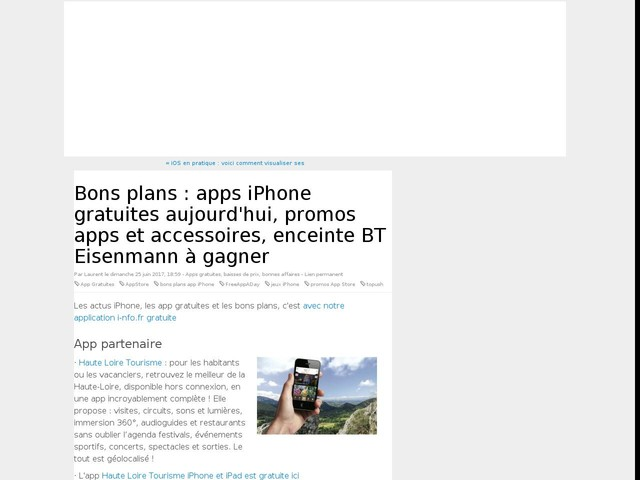 Bons plans : apps iPhone gratuites aujourd'hui, promos apps et accessoires, enceinte BT Eisenmann à gagner