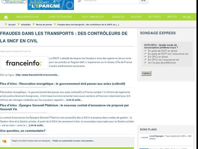 Fraudes dans les transports : des contrôleurs de la SNCF en civil