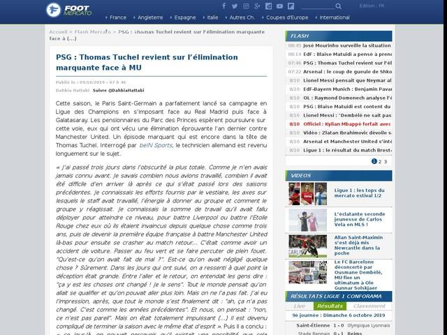 PSG : Thomas Tuchel revient sur l'élimination marquante face à MU