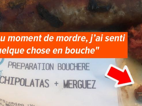 Bertrand trouve un morceau de métal dans sa saucisse lors de ses vacances en Ardèche