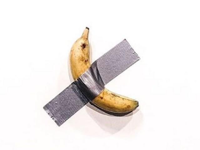 Cette banane scotchée à un mur vaut 120.000 dollars