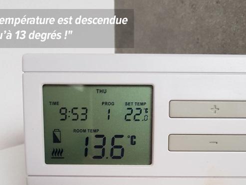 """Les radiateurs de la maison de Joëlle sont défectueux en plein hiver: """"Toute la famille est tombée malade"""""""