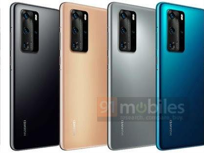 Les couleurs des Huawei P40 et P40 Pro révélées dans une nouvelle fuite