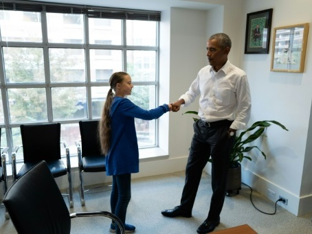 Greta Thunberg rencontre Barack Obama à Washington