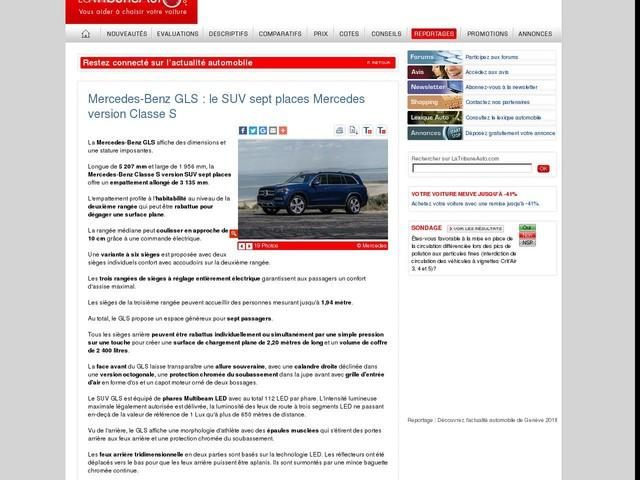 Mercedes-Benz GLS : le SUV sept places Mercedes version Classe S