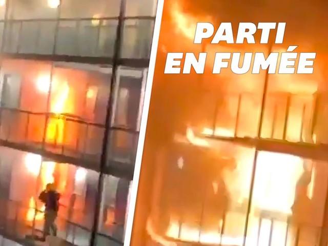 Les étudiants d'un campus britannique évacués de justesse d'un incendie dantesque