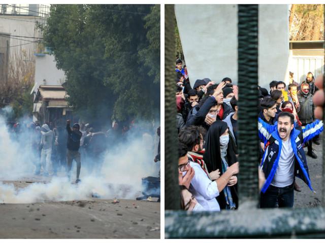 Ce lien étrange que font plusieurs sites d'information entre les manifestations en Tunisie et celles en Iran