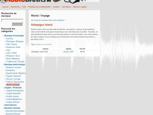 Audiobank : Galapagos Island par Bobby Cole