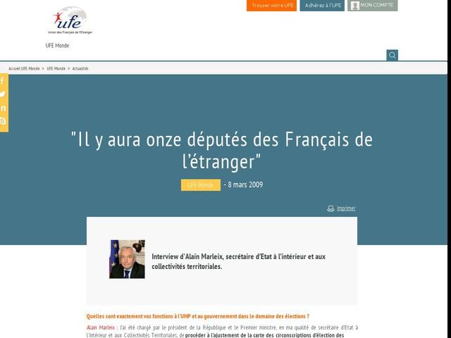 """""""Il y aura onze députés des Français de l'étranger"""""""