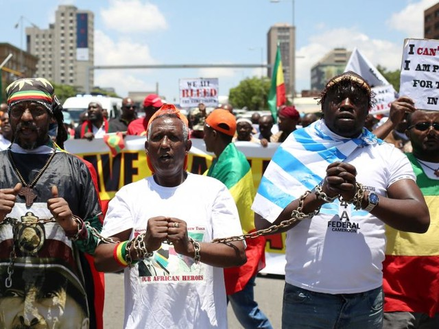 Afrique du Sud: manifestation contre l'esclavage des migrants en Libye