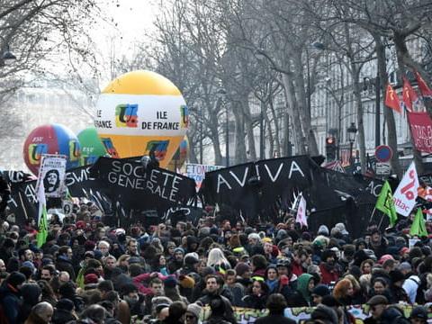 Départ de la manifestation parisienne contre la réforme des retraites