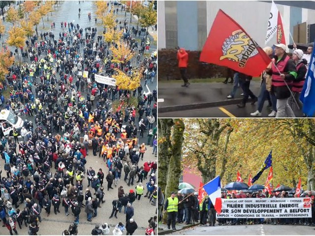 Contre le plan social de General Electric à Belfort : la manifestation du 19 octobre en trois images