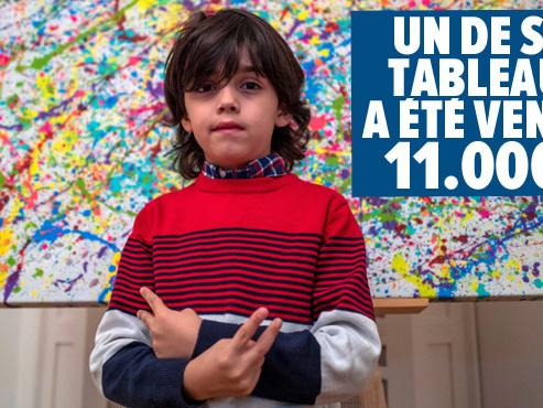 """""""À seulement 7 ans, il s'est déjà fait un nom dans le monde de l'art"""": voici Mikail, le """"mini Picasso"""" allemand (photos)"""