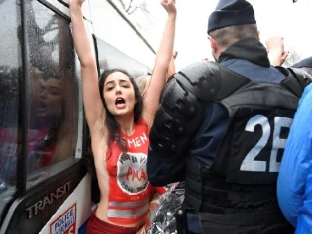 Plus d'un millier d'opposants à l'avortement et à la PMA défilent à Paris