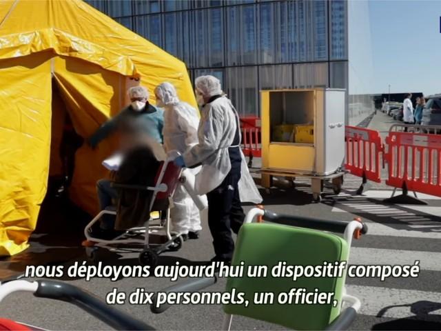 Coronavirus : retour en images sur l'organisation des Urgences de l'hôpital de Marne-la-Vallée