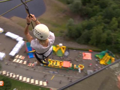 """Attraction vertigineuse à 70 mètres de hauteur au barrage de la Gileppe: """"C'est impressionnant"""" (vidéo)"""