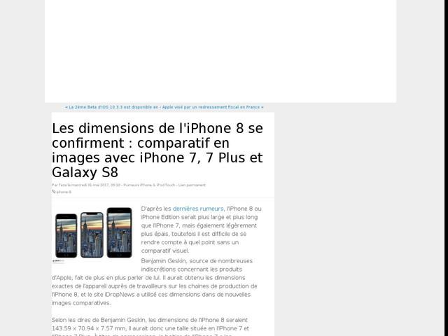 Les dimensions de l'iPhone 8 se confirment : comparatif en images avec iPhone 7, 7 Plus et Galaxy S8