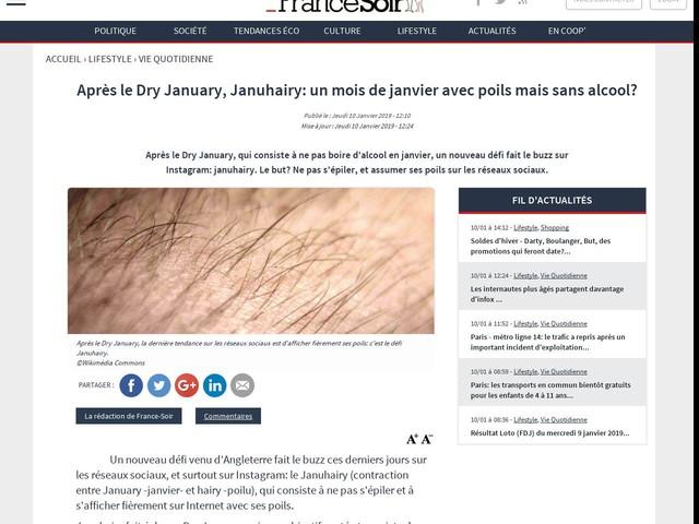 Après le Dry January, Januhairy: un mois de janvier avec poils mais sans alcool?
