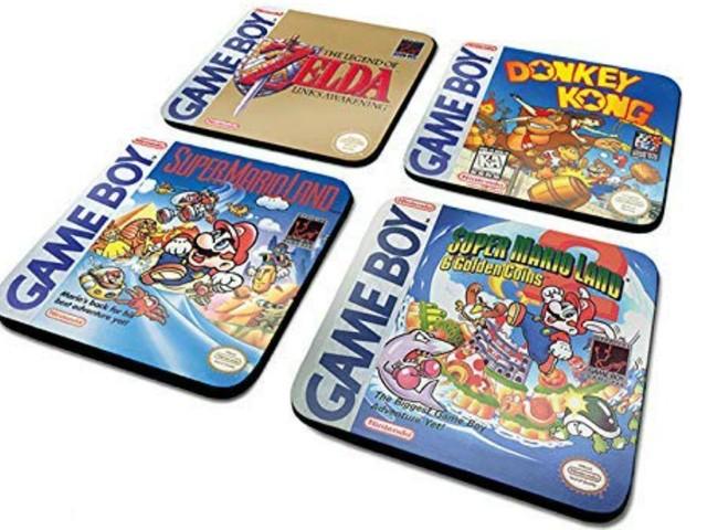 [TOPITRUC] Un lot de 4 dessous de verre avec des jeux cultes sur la Game Boy, pour les connaisseurs