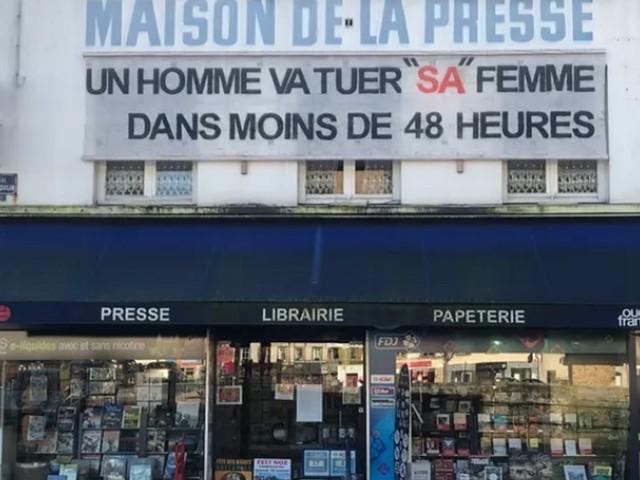 Pour alerter contre les féminicides, la banderole choc d'une ville du Finistère