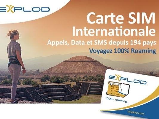 Vous partez en vacances à l'étranger ? La carte SIM internationale Explod est là pour vous faire oublier vos soucis de roaming !
