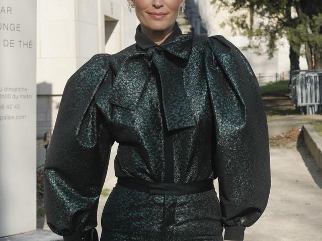 Molly Sims : En bonne compagnie au défilé Elie Saab, Audrey Dana épatée