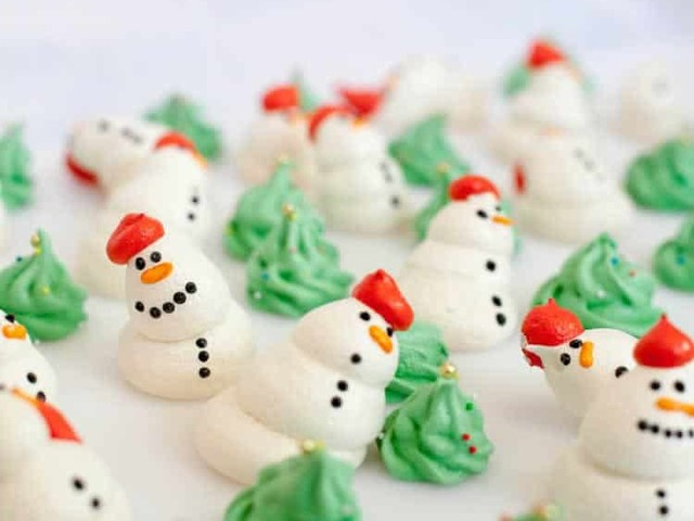 Bonhommes de neige en meringue au thermomix