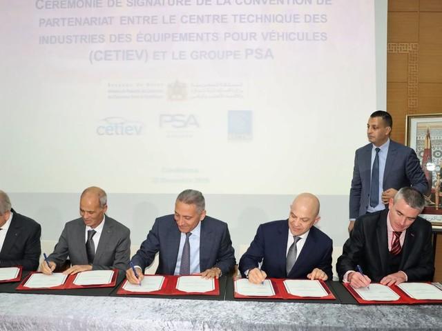 Le groupe PSA et le CETIEV s'allient pour la recherche et développement au Maroc