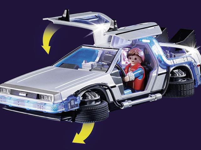 Promo sur le set Playmobil Retour vers le futur avec la célèbre DeLorean