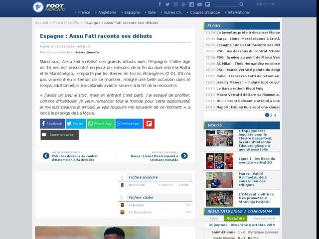 Espagne : Ansu Fati raconte ses débuts