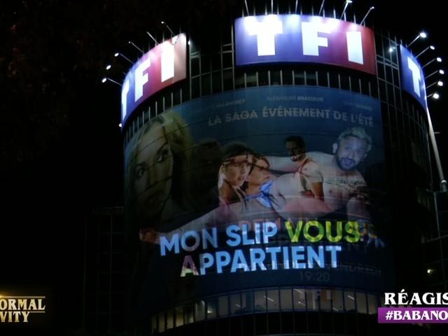 Mon slip vous appartient, le message de Cyril Hanouna sur la tour TF1 (vidéo intégrale).