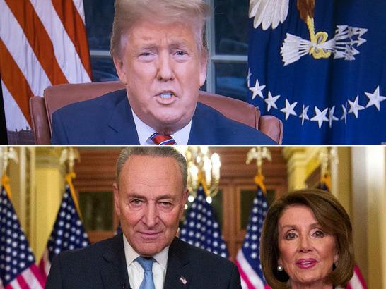 Trump défend son mur à la télévision, les démocrates lui répondent et continuent le bras de fer