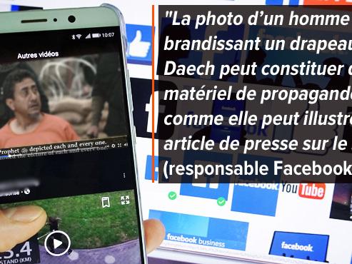 Sylvain regarde des vidéos humoristiques sur Facebook: le réseau social lui propose ensuite d'horribles images de propagande de l'Etat islamique