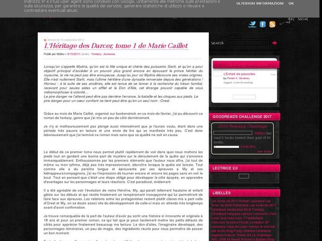 L'Héritage des Darcer, tome 1 de Marie Caillet