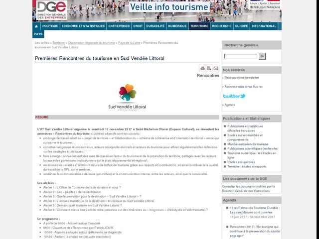 Premières Rencontres du tourisme en Sud Vendée Littoral