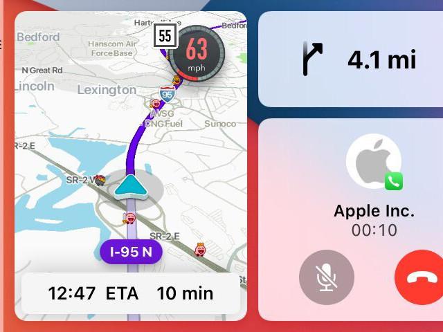 Waze disponible sur le tableau de bord de CarPlay en bêta