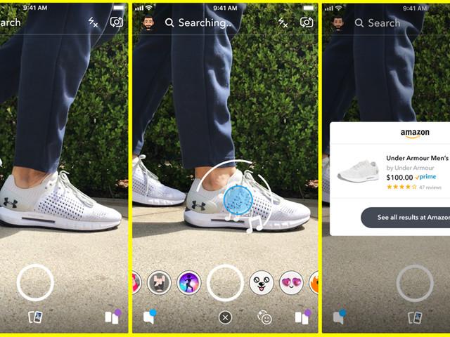 Snapchat: du scan de produits à acheter directement sur Amazon