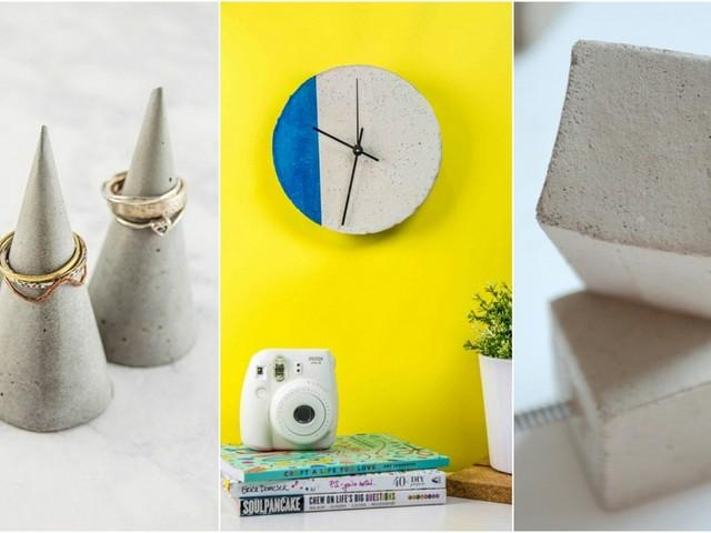 Bricolage en béton : 7 idées d'objets déco pratiques à faire soi-même