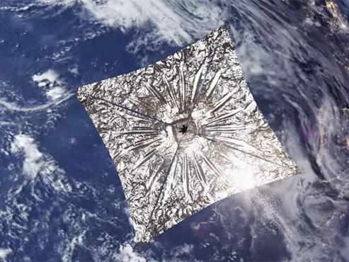 """Ce petit satellite de la taille d'un pain va """"voguer parmi les étoiles"""" avec comme propulseur les photons du soleil (vidéo)"""