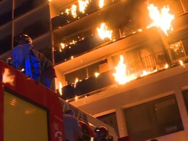 Créteil : 1 mort et 8 blessés dans un immeuble en feu de l'hôpital Henri-Mondor