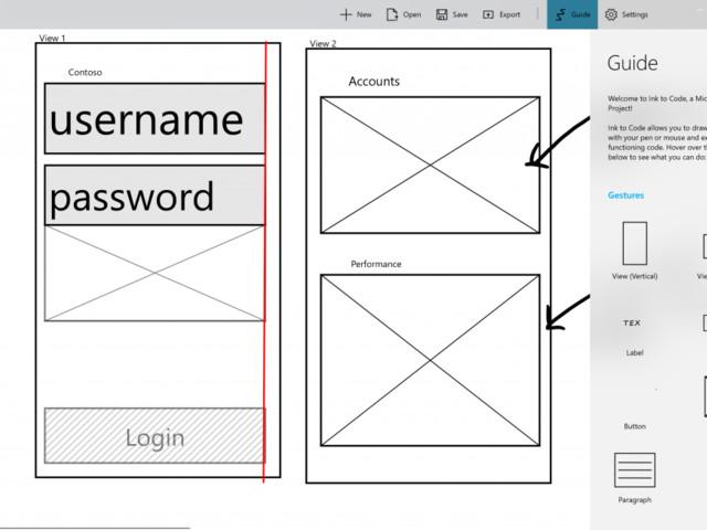 Ink to Code de Microsoft transforme vos esquisses de base en code