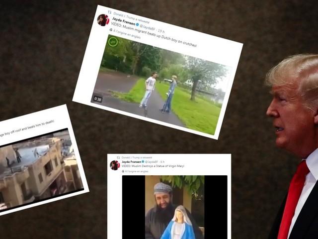 Les vidéos islamophobes retweetées par Donald Trump ne sont pas ce qu'il voudrait faire croire