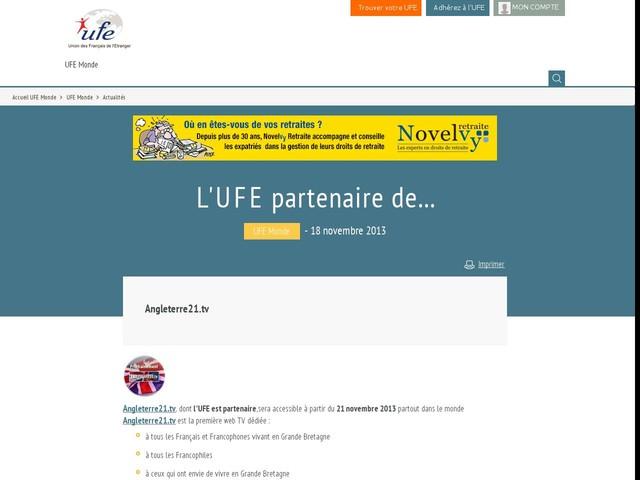 L'UFE partenaire de...
