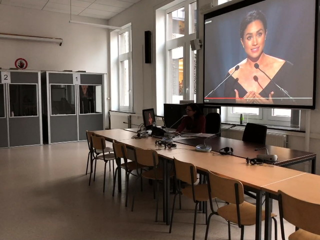 Nouveau pôle de formation en langues à Liège: des innovations pour l'interprétation en condition réelles (vidéo)