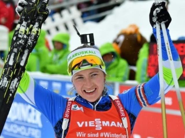 Biathlon: Domracheva remporte la mass start d'Anterselva