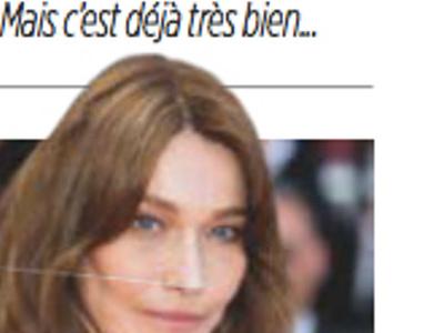 Carla Bruni honorée, elle fait face à une surprenante critique