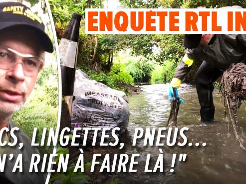 En 20 minutes, Frédéric ramasse des kilos de déchets dans une rivière à Mons (vidéo): dans quel état sont les cours d'eau wallons?