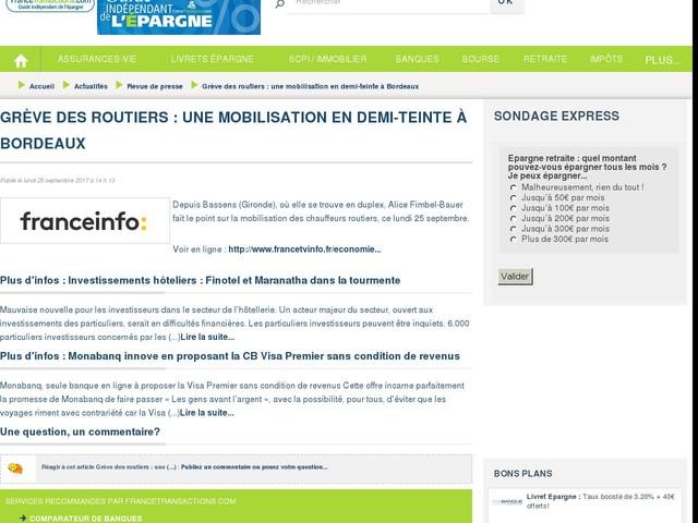 Grève des routiers : une mobilisation en demi-teinte à Bordeaux