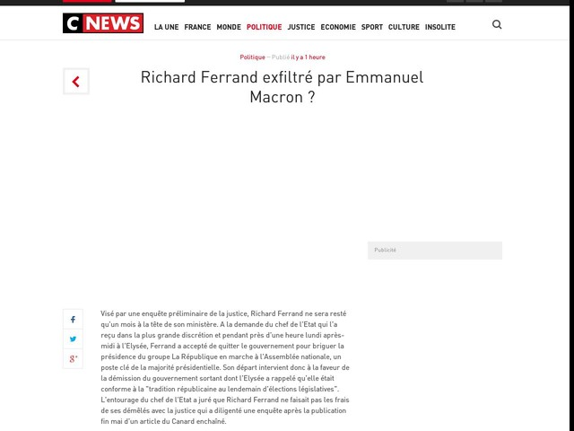 Richard Ferrand exfiltré par Emmanuel Macron ?
