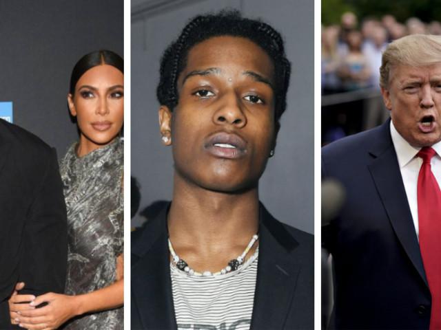 A$AP Rocky en prison : Kim et Kanye West font appel à Trump !